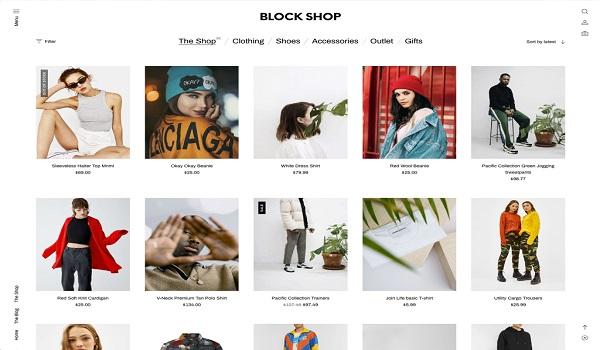 Theme WordPress tối ưu SEO Theme WordPress của Block Shop chủ yếu mang phong cách tối giản