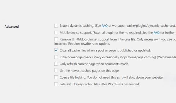 WP Super Cache là gì? Xóa các file cache cũ sau khi bài viết được update