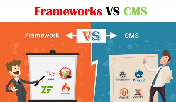 Framework và CMS là hai khái niệm hoàn toàn khác biệt