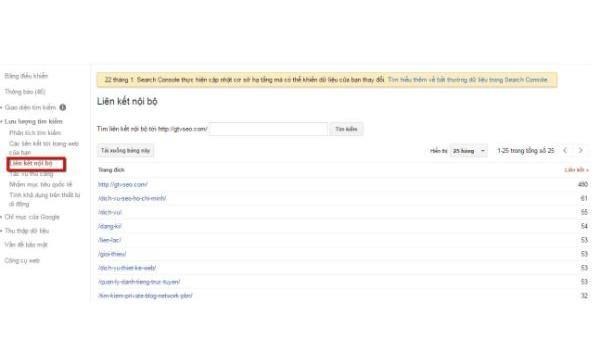Google Webmaster Tools là gì? Với vùng Who links the most, thông tin về người liên kết, các dữ liệu liên kết đều được báo cáo cụ thể