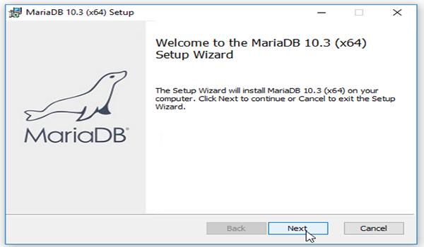 MariaDB là gì? Bước 2: Nhấp đúp chuột vào file và nhấn Next để cài đặt file