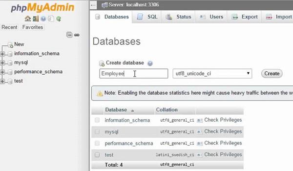 phpMyAdmin là gì? Cách tạo database trong phpMyAdmin
