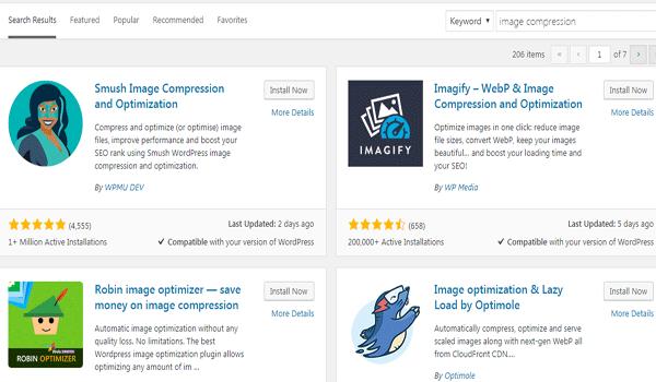 Dễ dàng tìm thấy một plugin nén ảnh trên nền tảng WordPress