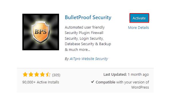 Plugin WordPress bảo vệ BulletProof sở hữu nhiều tính năng bảo mật đa dạng