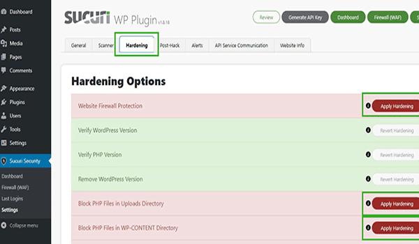 PLugin WordPress bảo vệ - Sucuri là plugin đến từ nhà cung cấp nổi tiếng cùng tên