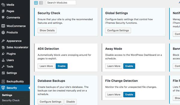 Plugin WordPress bảo vệ - iThemes Security mang đến nhiều tính năng bảo mật thú vị