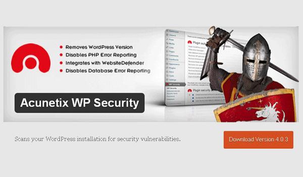 Plugin WordPress bảo vệ - Là sản phẩm của công ty bảo mất ứng dụng web Acunetix