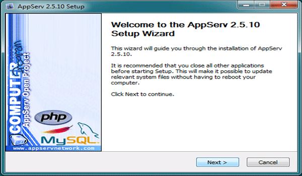 AppServ là gì? Chạy file cài vừa tải về máy