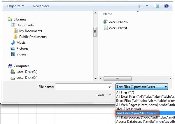 CSV là gì? Bạn có thể mở file .csv bằng Excel qua lệnh Open.