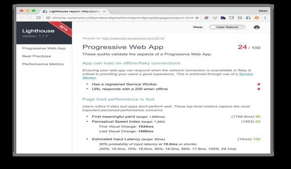 Lighthouse đã thêm Progressive Web App vào nhiệm vụ khảo sát của mình