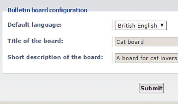 phpbb là gì? Đặt tiêu đề và chọn ngôn ngữ để hoàn tất quá trình cài đặt