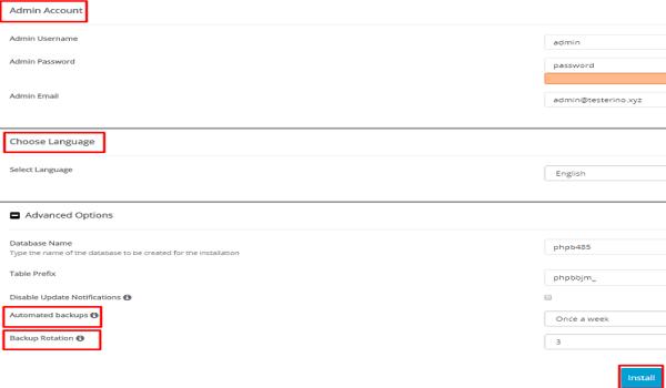 phpbb là gì? Cài đặt thông tin người quản trị diễn đàn