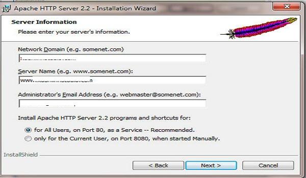 phpbb là gì? Network Domain, Sever Name: điền tên miền của bạn. Administrator's Email Address: nhập vào email của người quản trị.