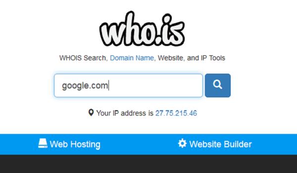 Whois là gì? Giao diện tra cứu thông tin tên miền