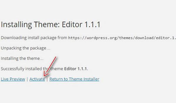 Theme WordPress là gì ? Cần Active theme để sử dụng theme đã cài đặt
