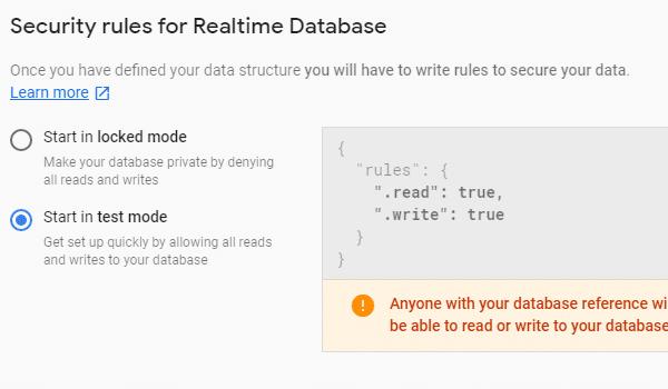 webrtc là gì? Chọn test-mode cho phép mọi người ghi database