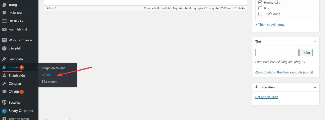 WP Helper là gì? Cài đặt từ trang quản trị website WordPress