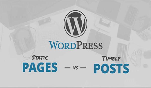 Page WordPress là gì? Post và Page là hai khái niệm khác nhau trong WordPress