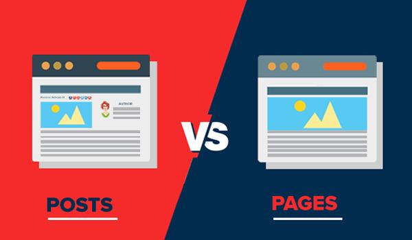 Post và Page có mục đích sử dụng khác nhau