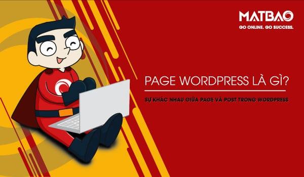 Page WordPress là gì? trang trong mã nguồn WordPress