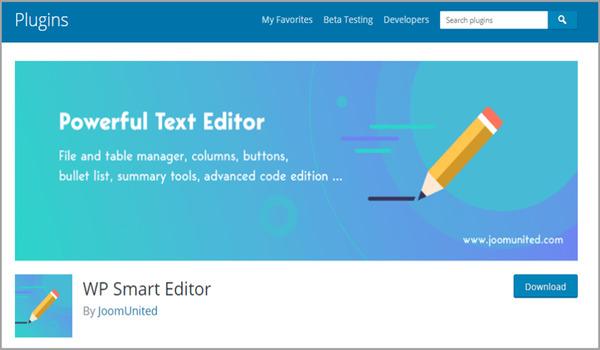 Plugin WP Smart Editor có những tính năng thông minh và chuyên nghiệp đúng với tên gọi của nó