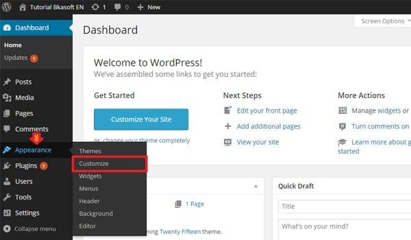 cách tùy chỉnh theme WordPress. Bạn có thể tùy chỉnh giao diện bằng chức năng Customize Appearance có sẵn trên WordPress