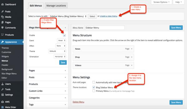 cách tùy chỉnh theme WordPress. Ở mục Customize, bạn có thể tự điều chỉnh Menu và Widget