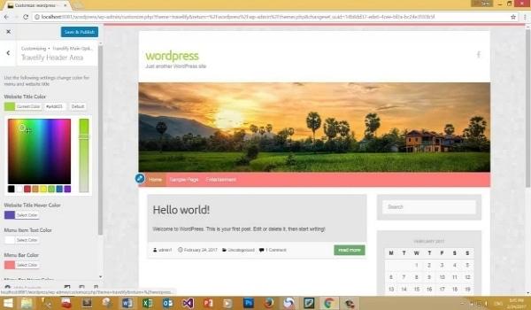 Tại khu vực Colors, bạn có thể tùy chỉnh màu sắc cho nhiều phần của website