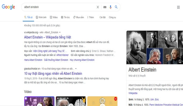 Knowledge là ví dụ cho cho việc ứng dụng SEO Entity của Google