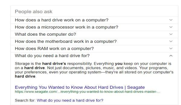 """SEO Entity là gì? Mục """"People Also search for"""" là nơi có thể tham khảo việc tối ưu nội dung cho SEO Entity"""