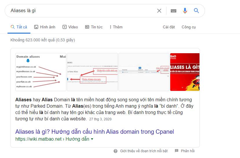 Một ví dụ cụ thể cho Google Snippet