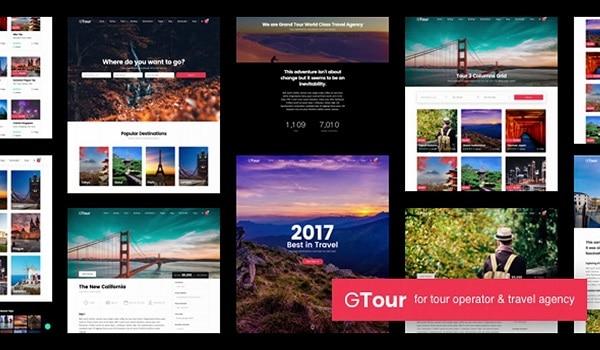 Top theme du lịch WordPress - Grand Tour sở hữu giao diện đẹp mắt và thu hút khách hàng