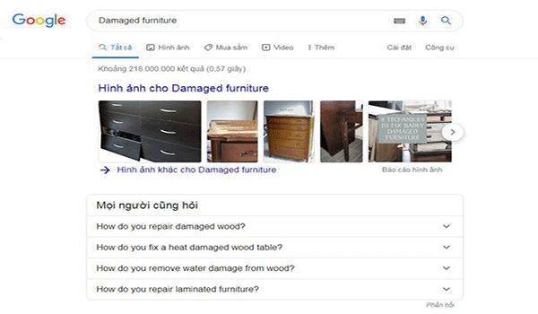 Google còn cung cấp thông tin giúp xác định intent của người dùng