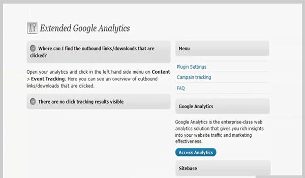 Extended Google Analytics là plugin WordPress mở rộng giúp đơn giản hóa việc theo dõi thông tin