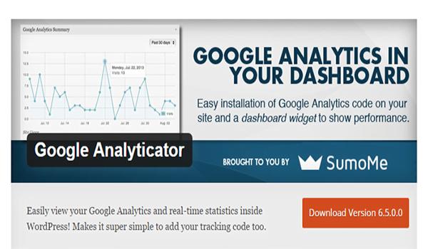 Google Analyticator cũng là plugin miễn phí cho WordPress và có thể truy cập suốt đời.
