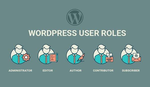 các nhóm user trên wordpress
