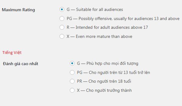 Comments WordPress là gì? Cách lọc đánh giá theo độ tuổi trong WordPress