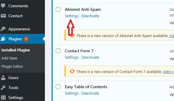 Tiến hành cài đặt Plugin Akismet Anti Spam