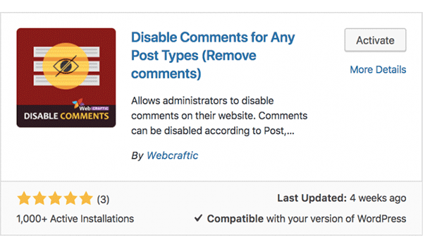Plugin tùy chọn tắt Comment một loại bài viết bất kì trong WordPress