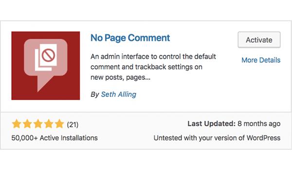 Tắt tính năng bình luận trên Page trong WordPress
