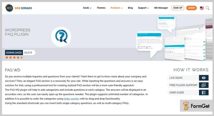 plugin wordpress giúp tạo faq FAQ WD