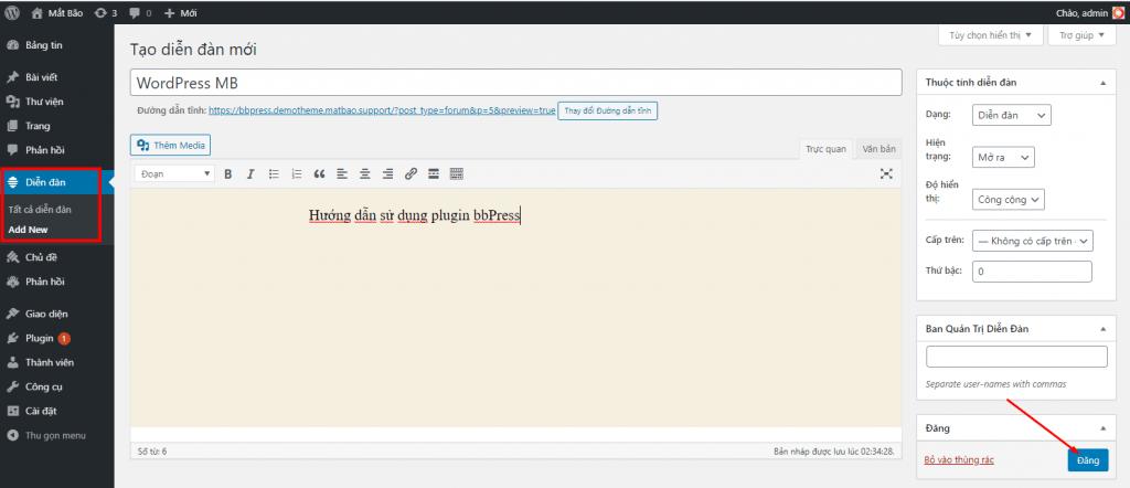 create bbpress home 1024x442 - Diễn đàn là gì? Hướng dẫn sử dụng diễn dàn với bbPress - Trung tâm hỗ trợ kỹ thuật