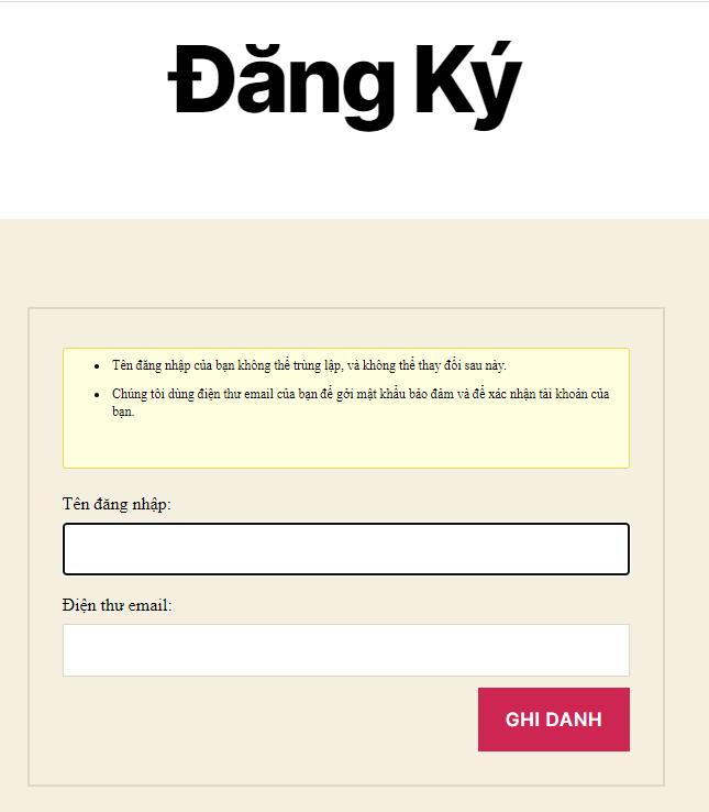dang ky - Diễn đàn là gì? Hướng dẫn sử dụng diễn dàn với bbPress - Trung tâm hỗ trợ kỹ thuật