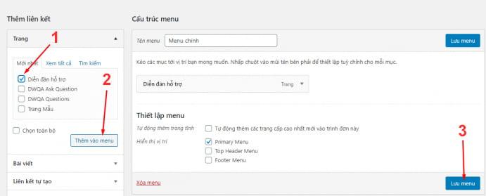 edit menu - Diễn đàn là gì? Hướng dẫn sử dụng diễn dàn với bbPress - Trung tâm hỗ trợ kỹ thuật