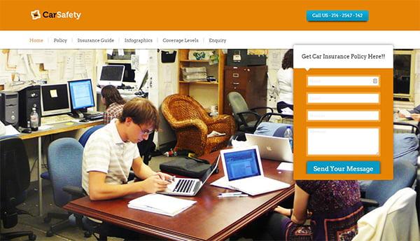 Theme WordPress bảo hiểm Carsafety cho phép quảng bá các ưu đãi, chương trình bảo hiểm mới nhất thông qua Blog.