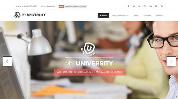 theme wordpress myuniversity