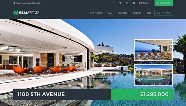 theme bất động sản wp real estate