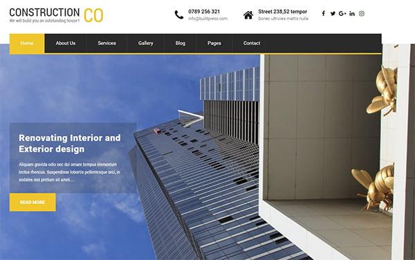 theme bất động sản cho website wordpress
