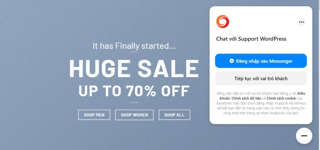 tích hợp facebook chat vào web