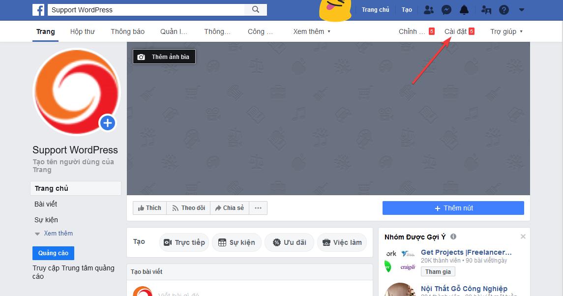 hướng dẫn tích hợp facebook vào trang web